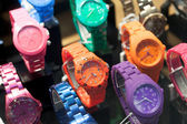 Assorted wristwatches in a store — Stockfoto