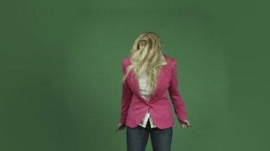 Woman  screaming frighten — Stock Video