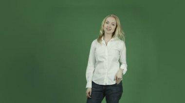 Woman  talking interview — Stock Video