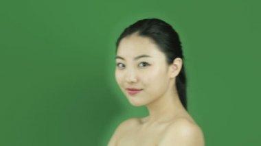 Naked beauty flirty girl — Stock Video