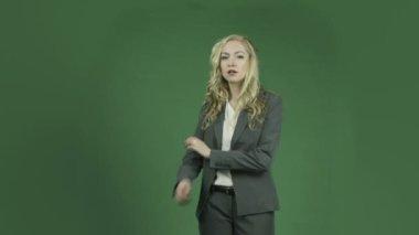 Caucasian businesswoman is upset — Stock Video
