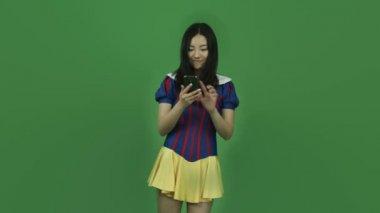 Snow white taking selfie — Stock Video