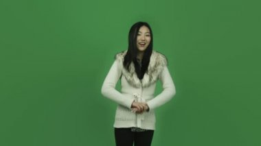 Asian girl — Stock Video