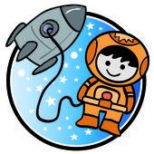 Boy in Space — Stock Vector