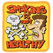 Smoking is not healthy — Stock Vector