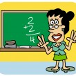 Stock Vector: Teaching maths