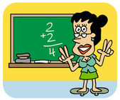Enseñanza de las matemáticas — Vector de stock