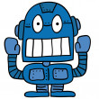 Odd robot — Stock Vector