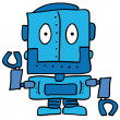 Weird robot — Stock Vector