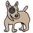 Eye brown dog — Imagen vectorial