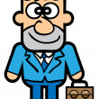 Handsome executive — Imagen vectorial