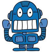 Odd robot — Stock Vector