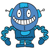 Funny smiling robot — Stock Vector