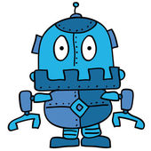 Strange robot — Stock Vector