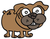 Friendly dog — Vector de stock
