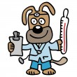 Veterinarian dog doctor — Stock Vector