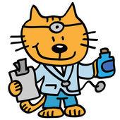 Veterinarian cat doctor — Stock Vector