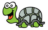 Friendly turtle — Stock Vector