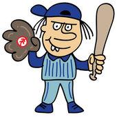 Basebollspelare — Stockvektor