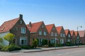 Linked houses in Volendam — Stock Photo