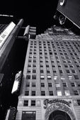 Paramount building on times square, new york, black and white photo — Zdjęcie stockowe