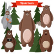 Stock vektor: Bears