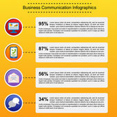 Business infographic flat design — Stock Vector