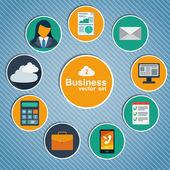 Business infographic flat design. — Stock Vector