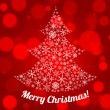 Christmas greeting or gift card with Xmas tree. EPS 10. — Stockvectorbeeld