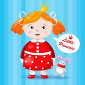 Beautiful little princess character — Stock Vector