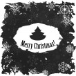 Vintage  Merry Christmas And Happy New Year Calligraphic And Typographic Background With Chalk  On Blackboard — Stock Vector