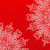 Vector Valentine's day lacy greeting ornate background — Stock vektor