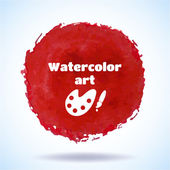 Watercolor vector handmade background. — Stock Vector