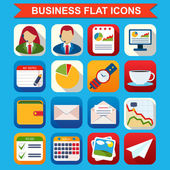 Business flat vector icons set — Stock Vector