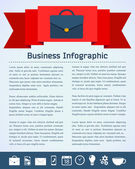 Flat Business Infographic Background — Stockvector