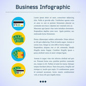 Flat Business Infographic Background — Stock Vector