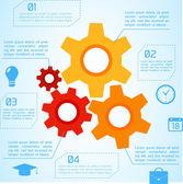 Flat Business Infographic Background — Stockvektor