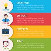 Flat Business Infographic Background — Vecteur