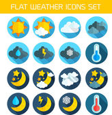 Flat weather Icons Set for Web and Mobile Applications — Stock Vector