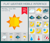 Flat weather Icons Set for Web and Mobile Applications — Vector de stock