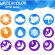 Watercolor abstract background. — Stock Vector