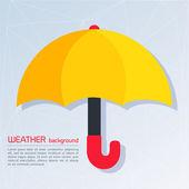 Fundo de clima moderno com guarda-chuva — Vetor de Stock