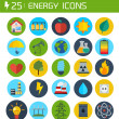 Flat energy vector icons — Stock Vector #45458989