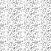 Funny cartoon cats seamless background — Vecteur
