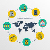 Modern flat city background infographics — Stock Vector