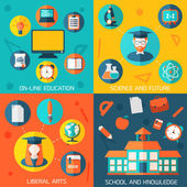 Flat education infographic background. — Stockvektor