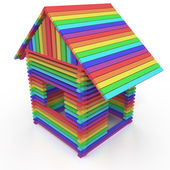 Rainbow house — Stock Photo
