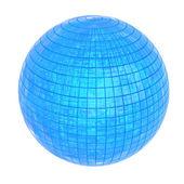 Sphère bleue brillante, 3d — Photo
