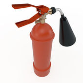 Fire extinguisher, 3D — Stock Photo