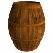 Wooden barrel, 3D — Stock Photo